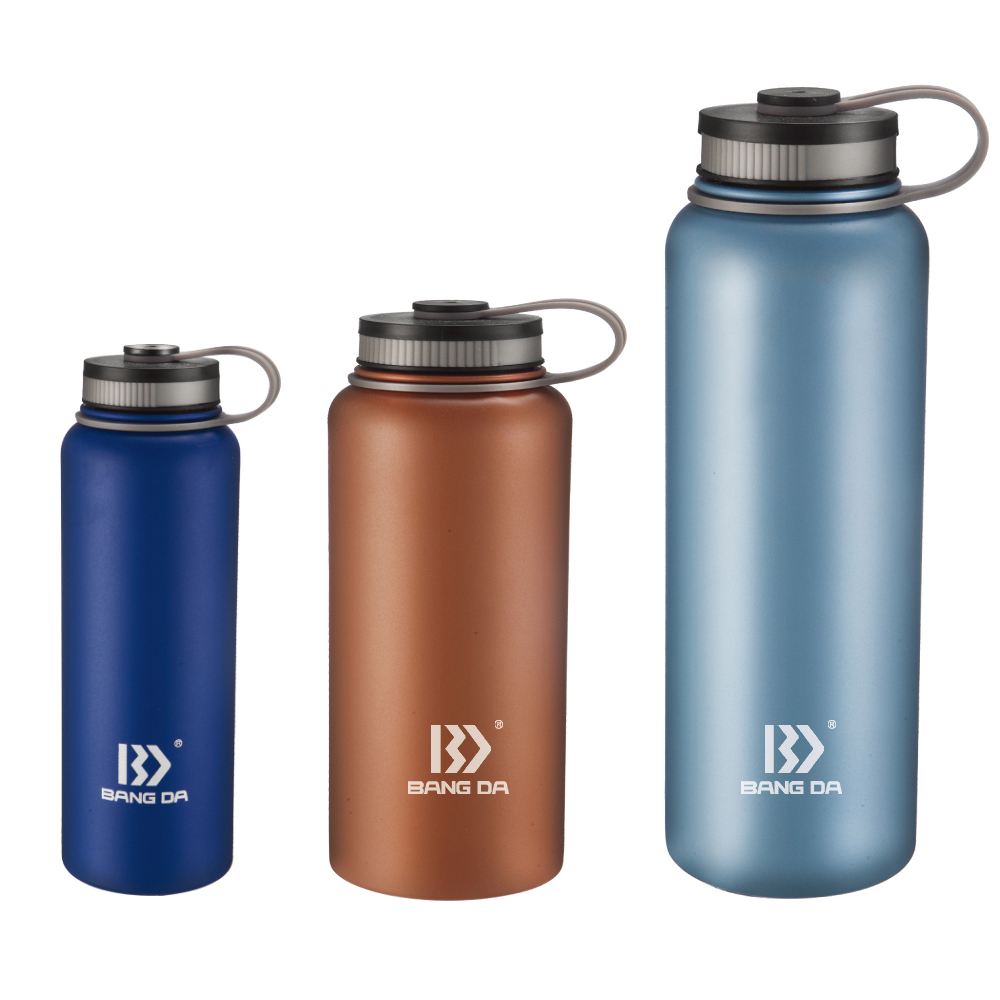 Custom Fashion Lid Stainless Steel Vacuum Insulated Wide