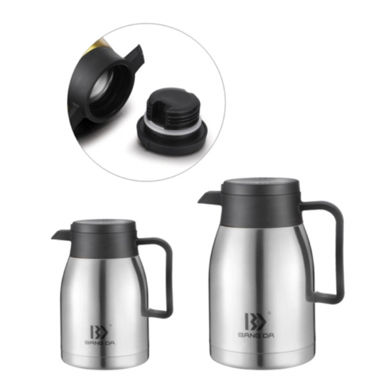 Double Layer Stainless Steel Flask Jug Family Office Vacuum Insulation Pot